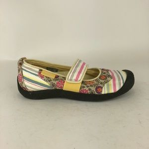 Keen Multi Color Canvas Mary Jane Shoes